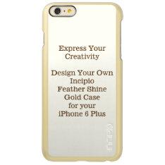 Incipio Feather Shine iPhone 6 Plus Case Gold at Zazzle