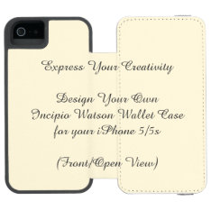 Incipio Watson Iphone 5/5s Wallet Case at Zazzle