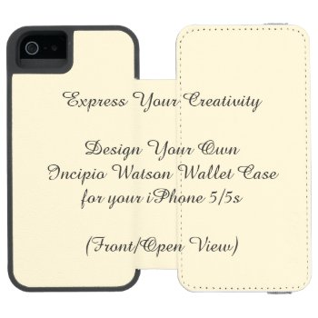 Incipio Watson Iphone 5/5s Wallet Case by DigitalDreambuilder at Zazzle