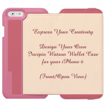 Incipio Watson Iphone 6 Wallet Case Pink Or Black by DigitalDreambuilder at Zazzle