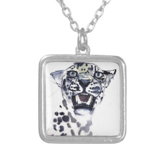 Incisor Snarl Silver Plated Necklace