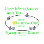 Inclinación axial del solsticio de invierno postal