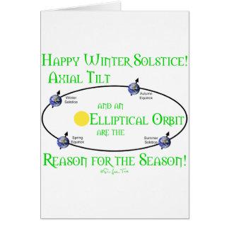 Inclinación axial del solsticio de invierno tarjeta de felicitación