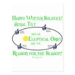 Inclinación axial del solsticio de invierno postales