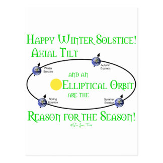 Inclinación axial del solsticio de invierno tarjetas postales