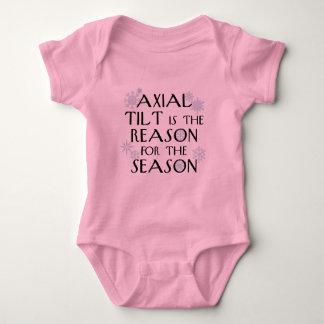 Inclinación axial para los días de fiesta body para bebé