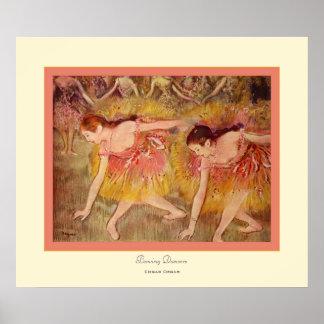 Inclinación Dancers~ Edgar Degas Póster