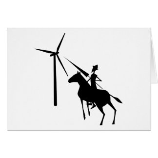 Inclinación en las turbinas tarjeta de felicitación