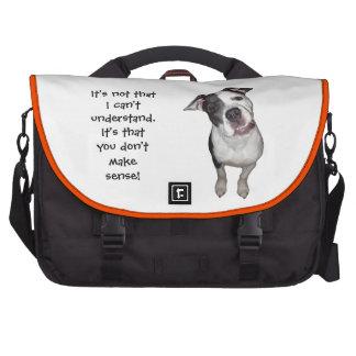 Inclinación linda de la cabeza de perro bolsas de portátil