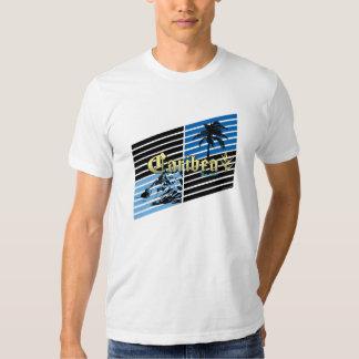 Inclinaciones del oro y del azul de Caribea Camisas