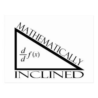 Inclinado matemáticamente tarjetas postales