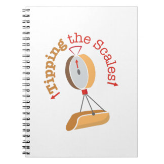 Inclinar las escalas spiral notebooks