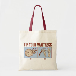 Incline a su camarera bolsa tela barata