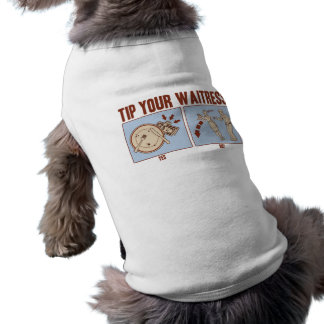 Incline a su camarera playera sin mangas para perro