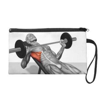 Incline Bench Press 2 Wristlet Purse
