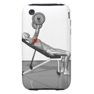 Incline Bench Press 3 iPhone 3 Tough Cases