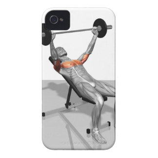 Incline Bench Press iPhone 4 Cases