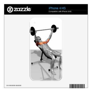 Incline Bench Press iPhone 4 Skin