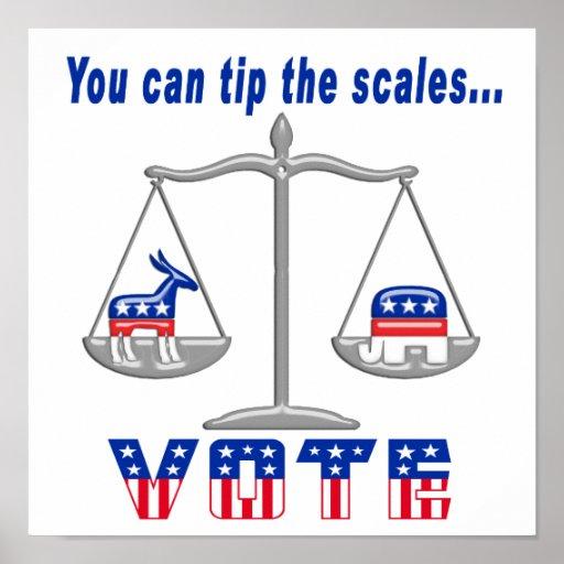 Incline el voto de las escalas posters