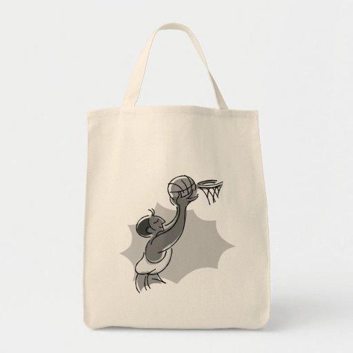 incline la bola en la cesta bolsas de mano