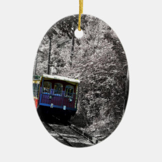 Incline Railway Ceramic Ornament