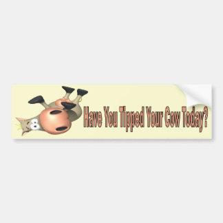 Inclinó su vaca pegatina de parachoque