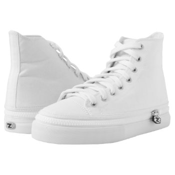 Include Soles: High Top Shoes Zip Off Printed Shoes by CREATIVESPORTS at Zazzle