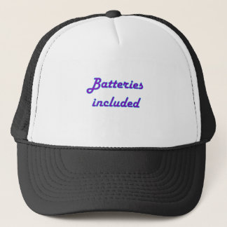 included trucker hat