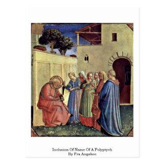 Inclusión del nombre de un Polyptych por Fra Angel Postales
