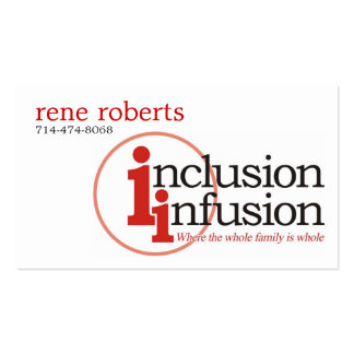 inclusión-infusión-logotipo, Rene roberts, Tarjetas De Visita