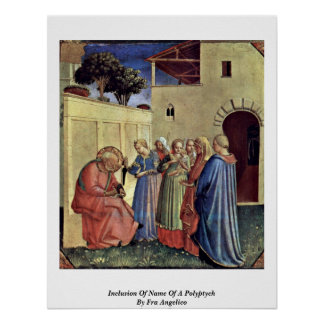 Inclusion Of Name Of A Polyptych By Fra Angelico Print