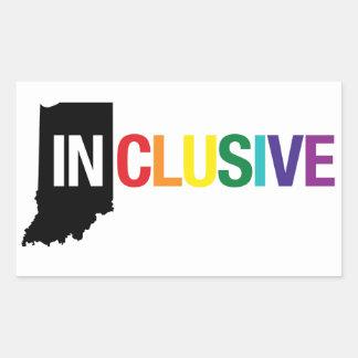 Inclusive Indiana | Sticker, Rainbow Rectangular Sticker