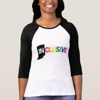 Inclusive Indiana   Women's Long T-Shirt