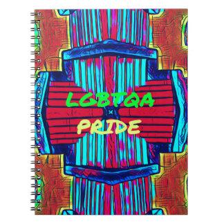 Inclusive 'LGBTQA PRIDE 'Rainbow Spectrum Notebook