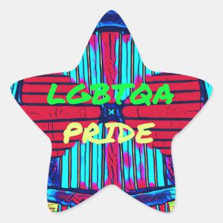 Inclusive 'LGBTQA PRIDE 'Rainbow Spectrum Star Sticker