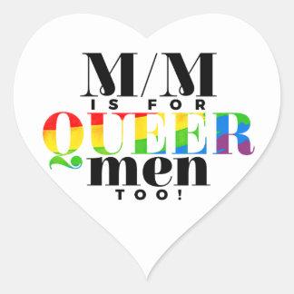 Inclusive M/M Heart Stickers