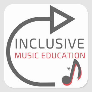 Inclusive Music Education Set of 3 Large Stickers