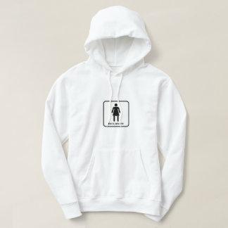 inclusive restroom sign hoodie