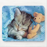 Incluso amor Teddybears de los gatitos Tapete De Raton