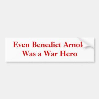 Incluso Benedicto Arnold era un héroe de la guerra Pegatina Para Auto
