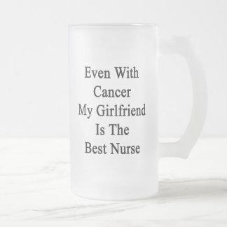 Incluso con el cáncer mi novia es la mejor enferme taza cristal mate