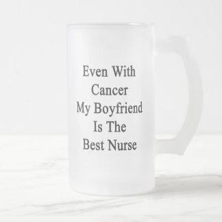 Incluso con el cáncer mi novio es la mejor enferme taza cristal mate