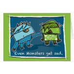 Incluso los monstruos consiguen tristes felicitaciones