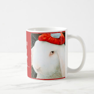Incluso mi liebre daña… tazas de café