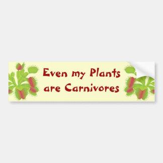 Incluso mis plantas son carnívoros pegatina para auto