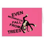 """Incluso Monkeys divertido """"yo son"""" tarjeta de feli"""