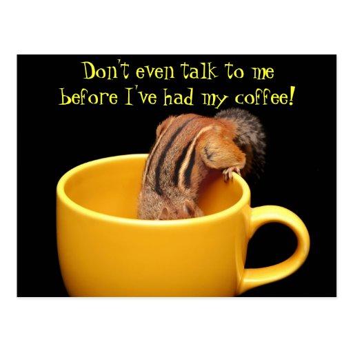 Incluso no hable conmigo…. tarjetas postales