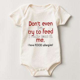 ¡Incluso no intente alimentarme! Body Para Bebé