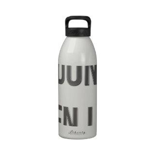 Incluso no levanto botella de agua reutilizable