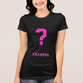Incluso no sé la camisa (el rosa gótico)